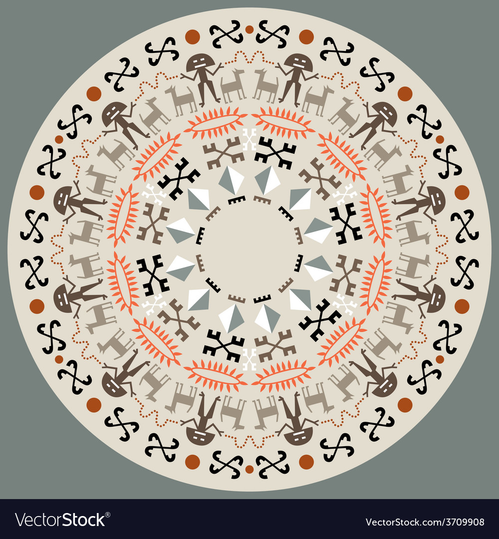 Disc with aboriginal art vector | Price: 1 Credit (USD $1)