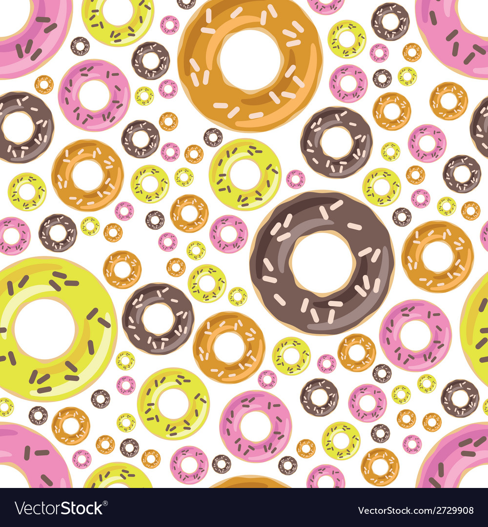 Donuts seamless pattern vector | Price: 1 Credit (USD $1)
