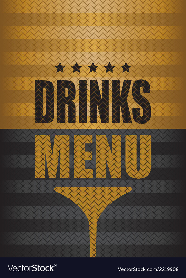 Drinks menu background vector | Price: 1 Credit (USD $1)