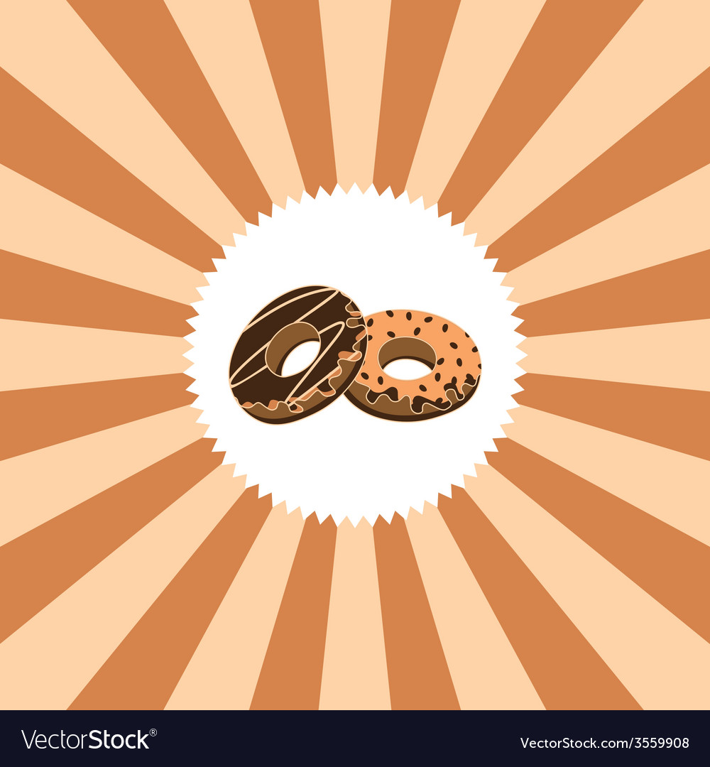 Food and drink theme donut vector | Price: 1 Credit (USD $1)