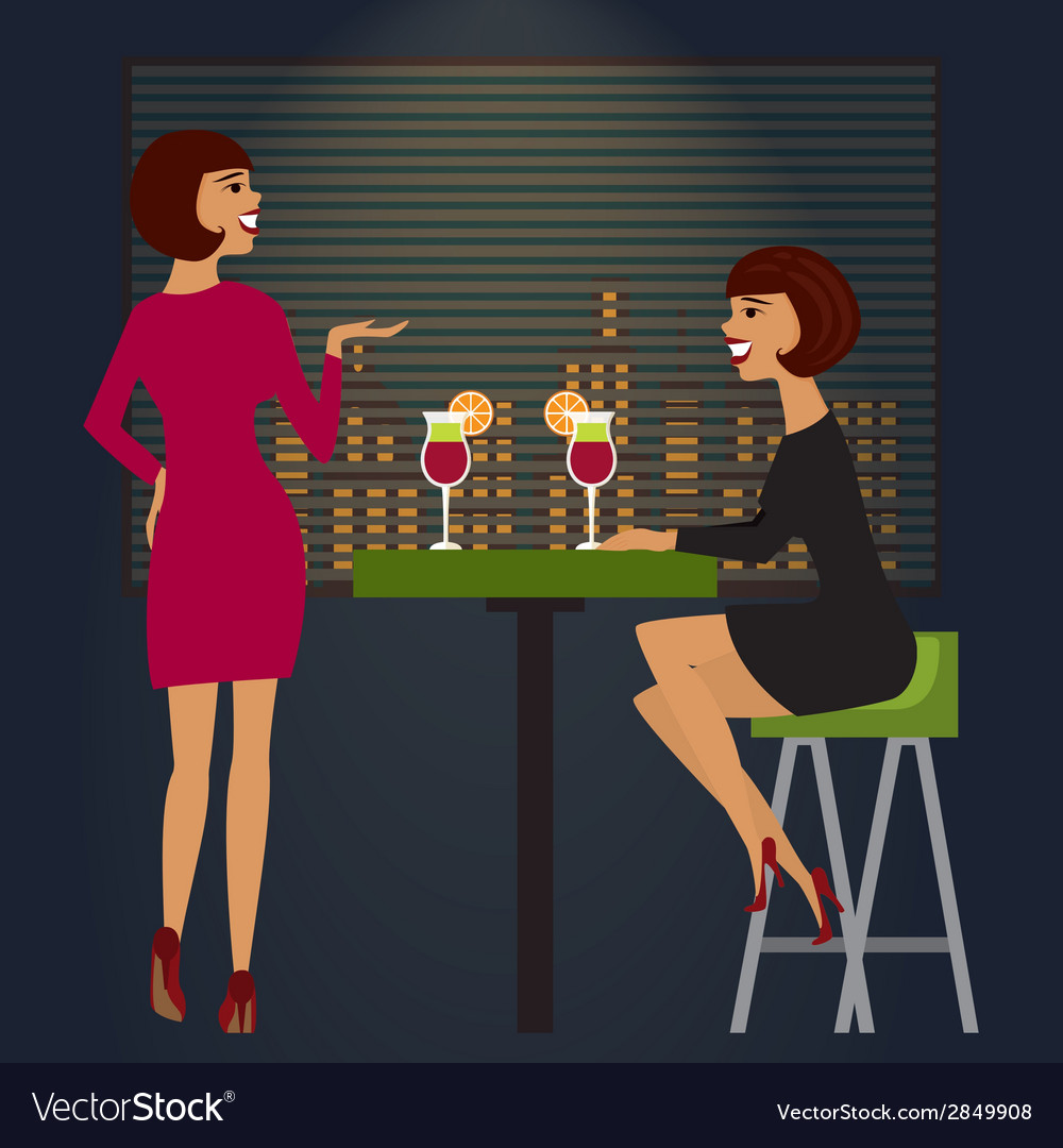 Friends celebrating in bar or night club vector | Price: 1 Credit (USD $1)