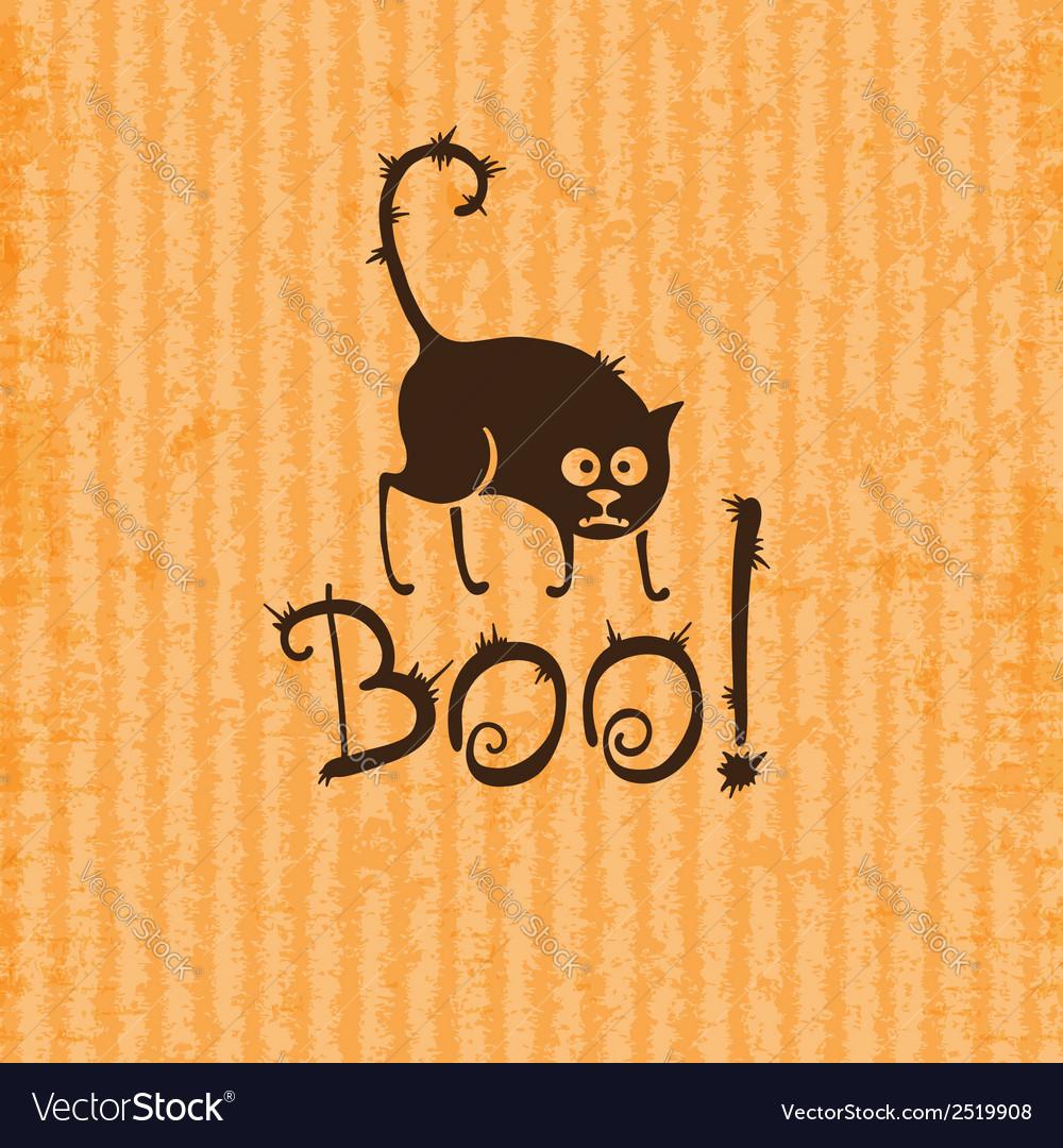 Halloween cat boo vector | Price: 1 Credit (USD $1)