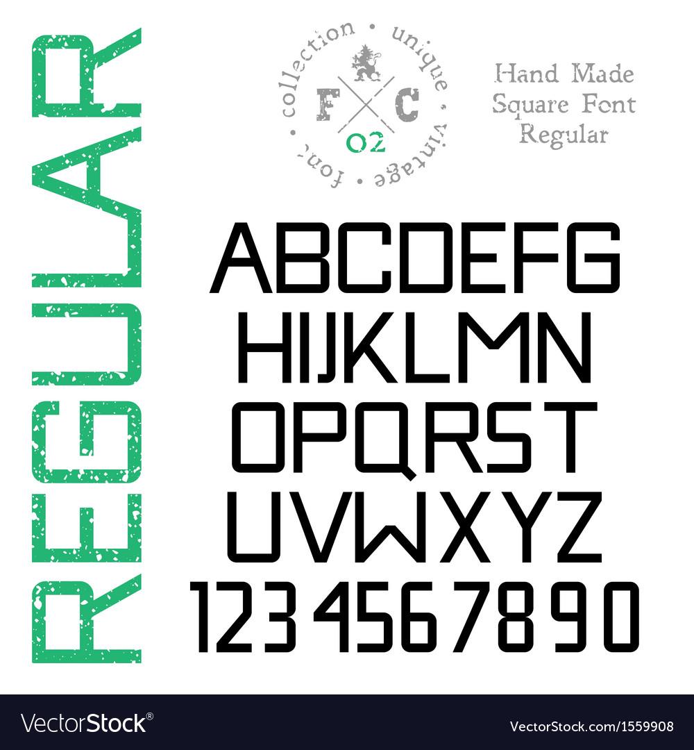 Handmade retro font vector   Price: 1 Credit (USD $1)