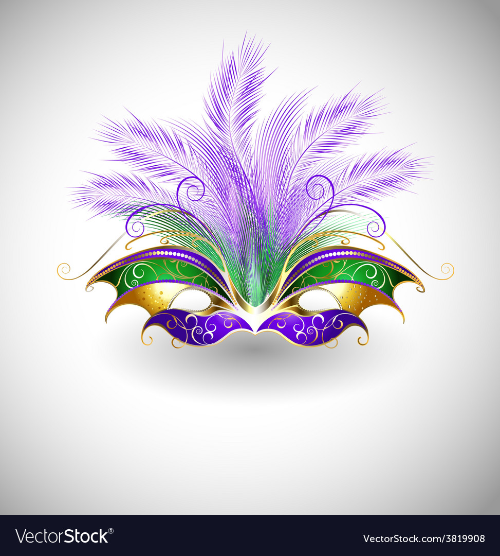 Mardi gras mask vector | Price: 3 Credit (USD $3)