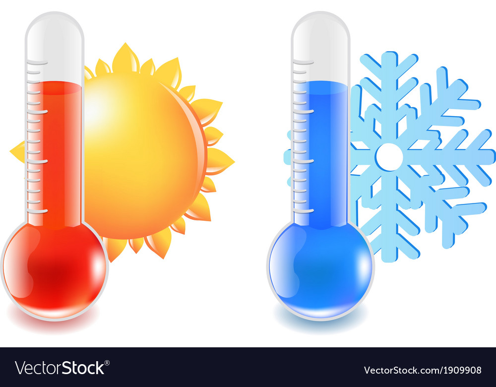 Thermometer hot and cold temperature vector | Price: 1 Credit (USD $1)