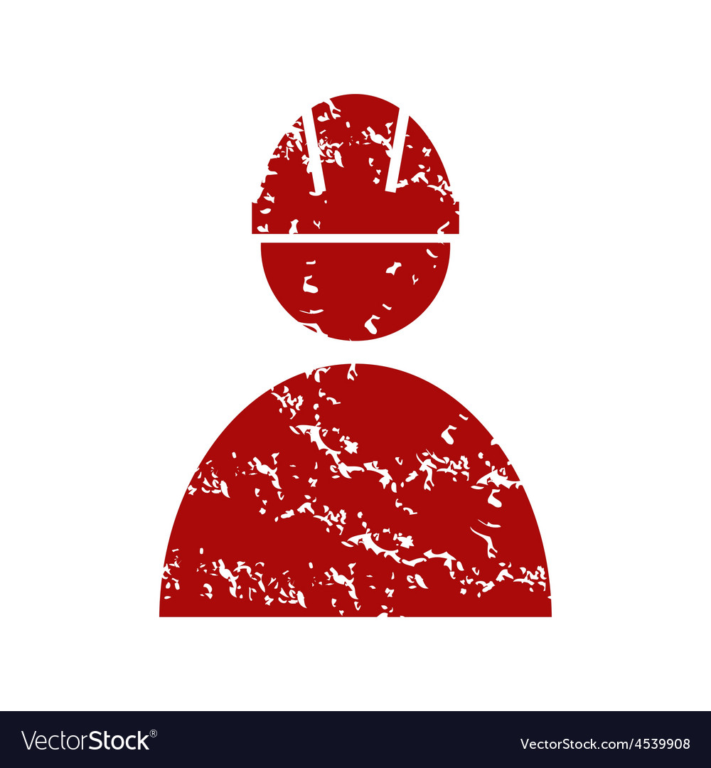 Red grunge working logo vector | Price: 1 Credit (USD $1)
