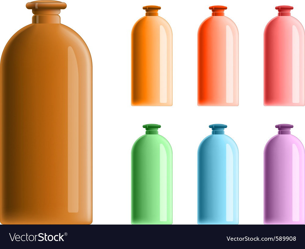 Simple plastic bottles vector | Price: 1 Credit (USD $1)