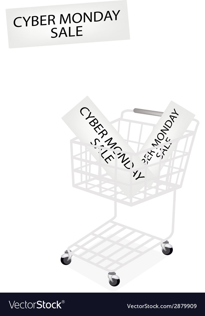 A shopping cart on cyber monday banner vector | Price: 1 Credit (USD $1)