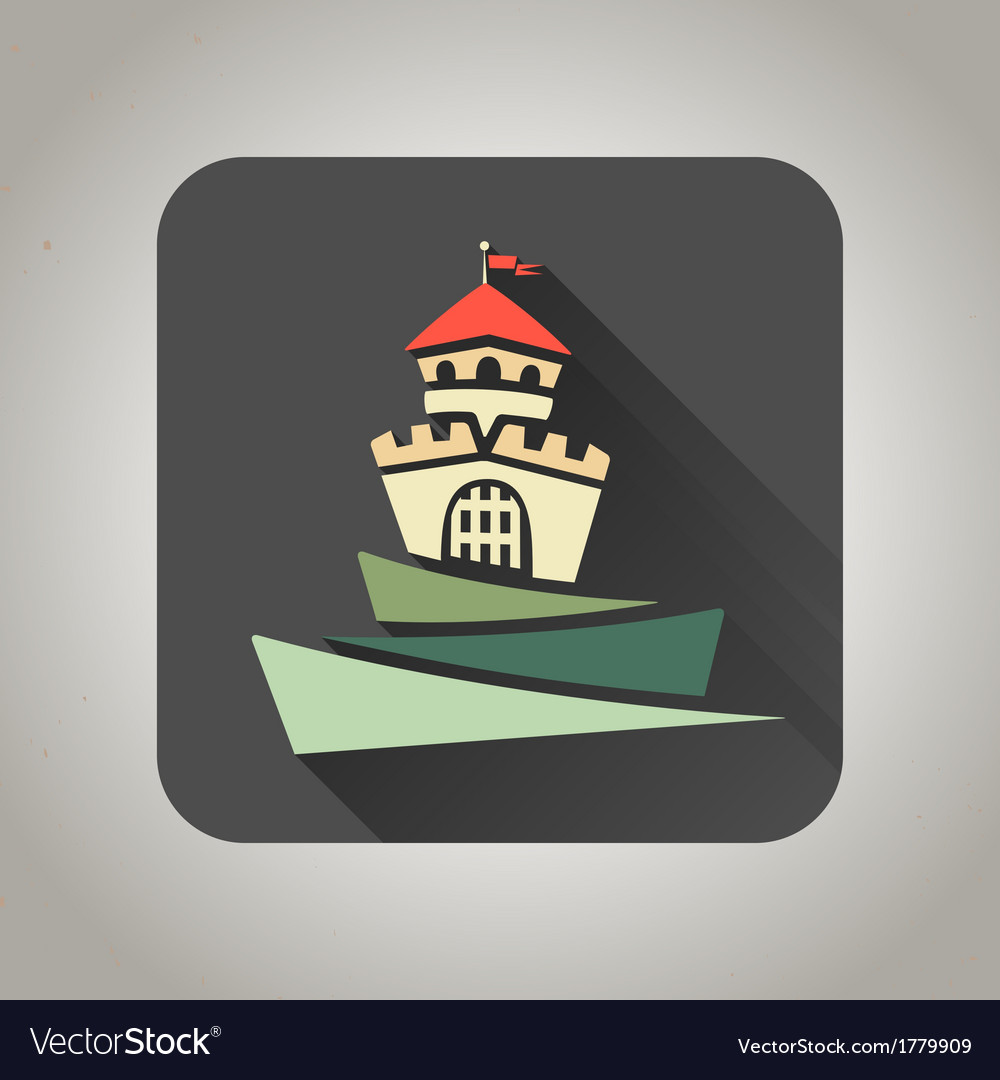 Black flat castle icon for web and mobile vector | Price: 1 Credit (USD $1)