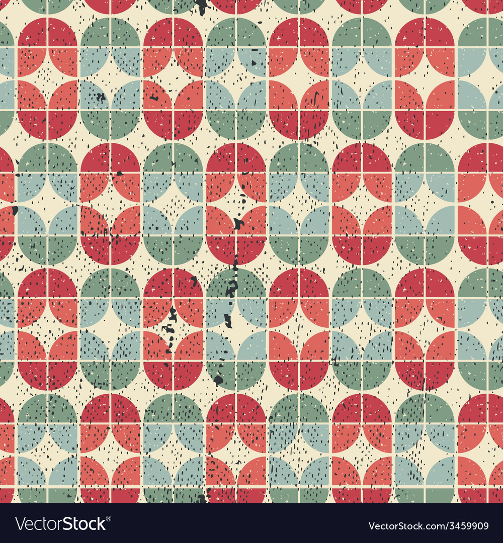 Colorful worn textile geometric seamless pattern vector | Price: 1 Credit (USD $1)