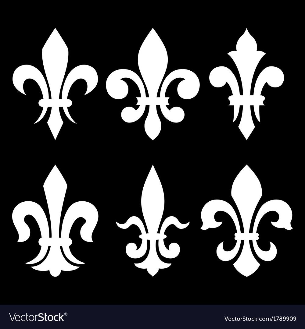 Heraldic symbols fleur de lis vector | Price: 1 Credit (USD $1)