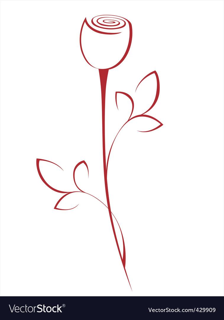 Line rose vector | Price: 1 Credit (USD $1)