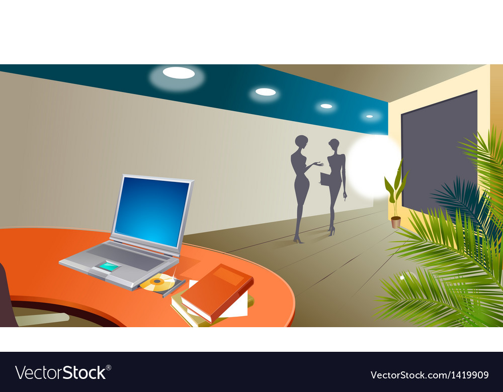 Office interior vector | Price: 1 Credit (USD $1)