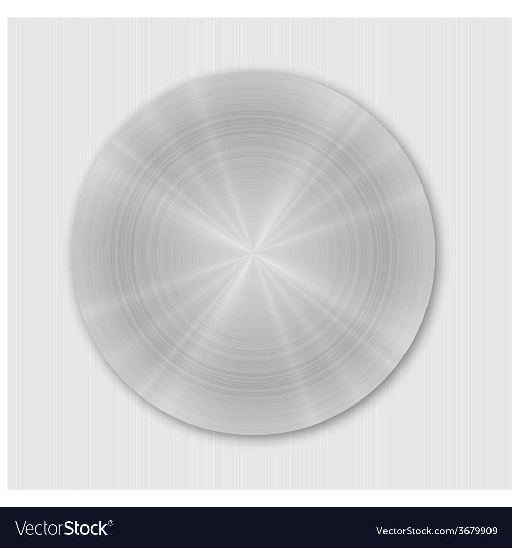 Rounded brushed metal plate vector | Price: 1 Credit (USD $1)