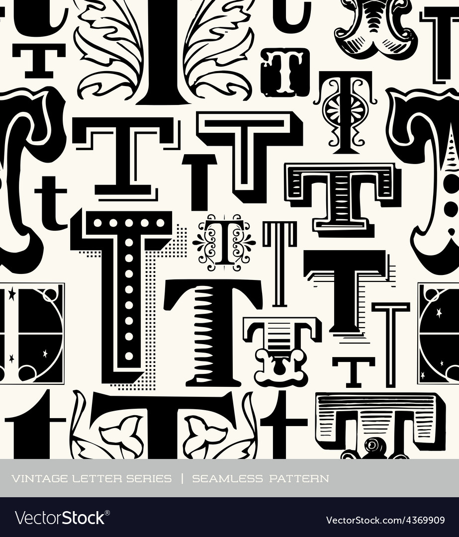 Seamless vintage pattern letter s vector | Price: 1 Credit (USD $1)
