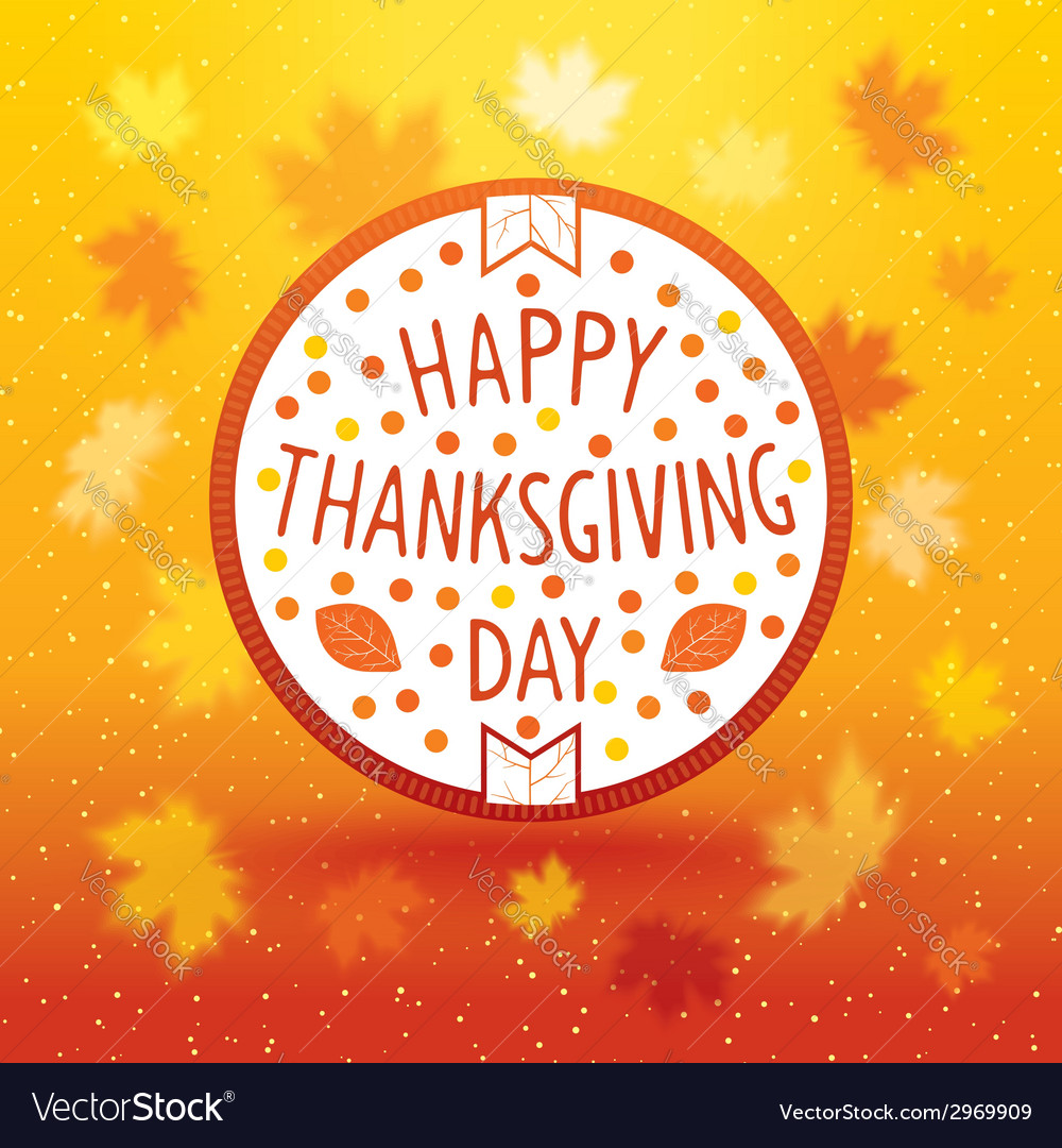 Thanksgiving day emblem vector | Price: 1 Credit (USD $1)