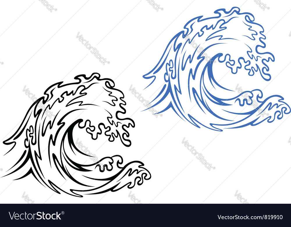 Big sea wave vector | Price: 1 Credit (USD $1)