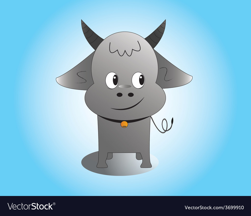 Buffalo male vector | Price: 1 Credit (USD $1)