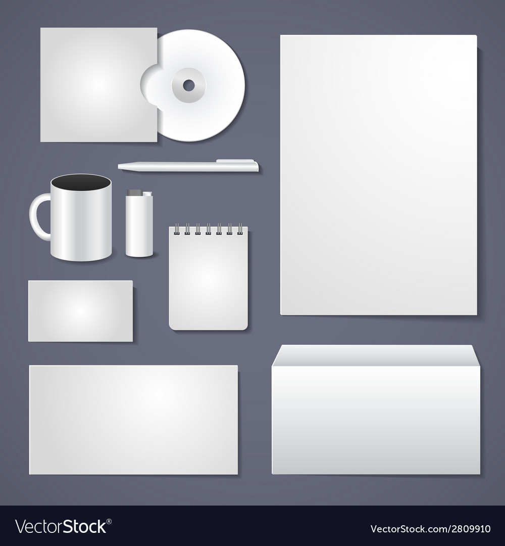 Empty corporate identity template vector | Price: 1 Credit (USD $1)
