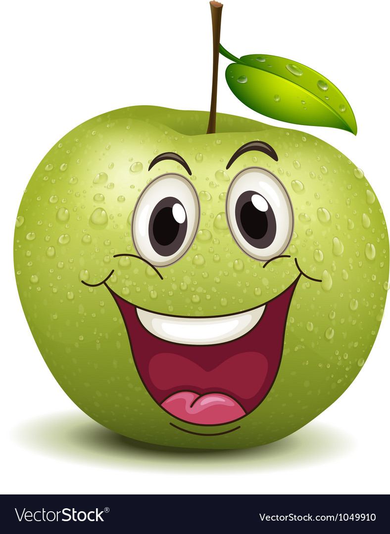 Happy apple smiley vector | Price: 1 Credit (USD $1)