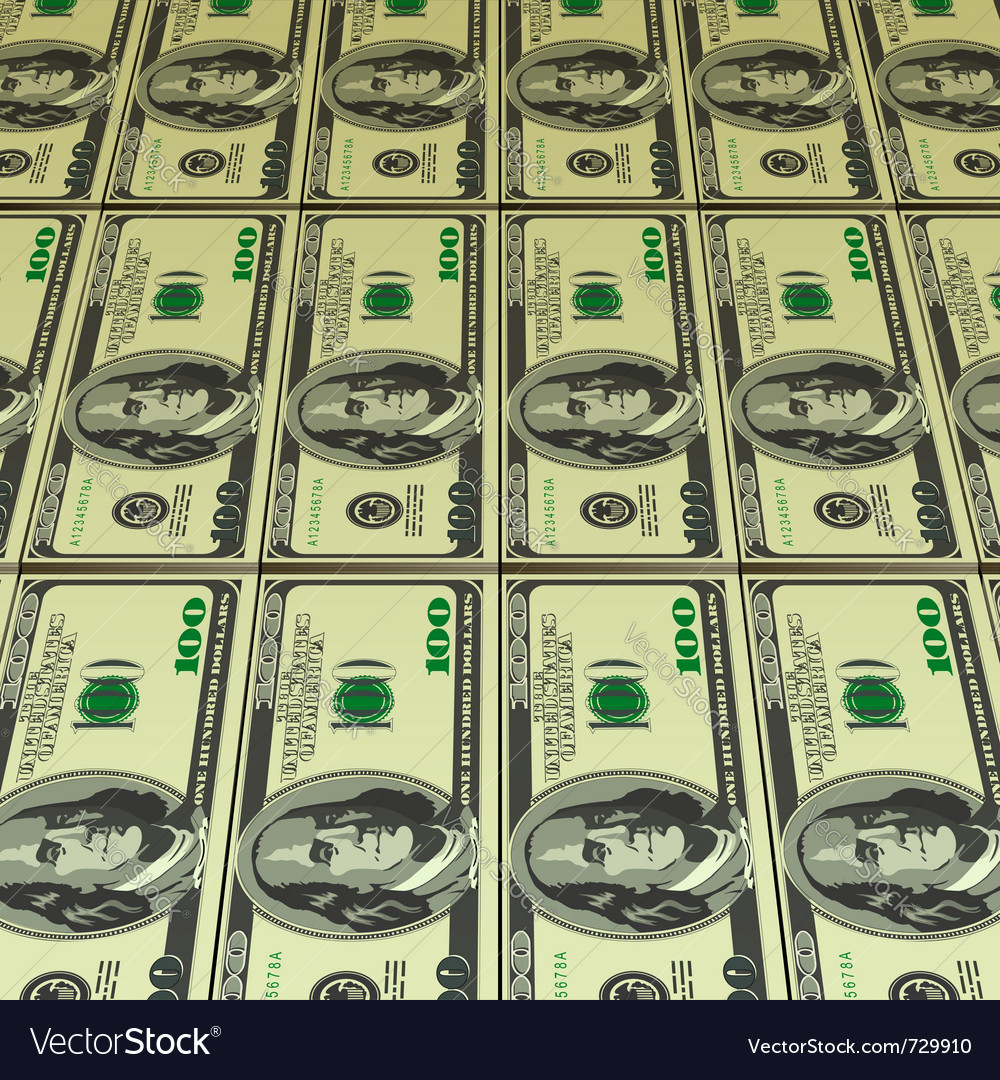 Hundred dollar bills vector | Price: 1 Credit (USD $1)