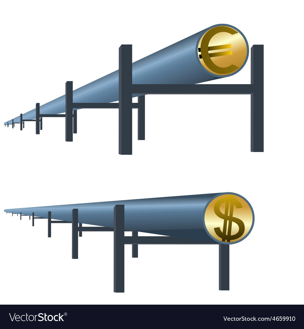 Monetary oil pipe vector | Price: 1 Credit (USD $1)