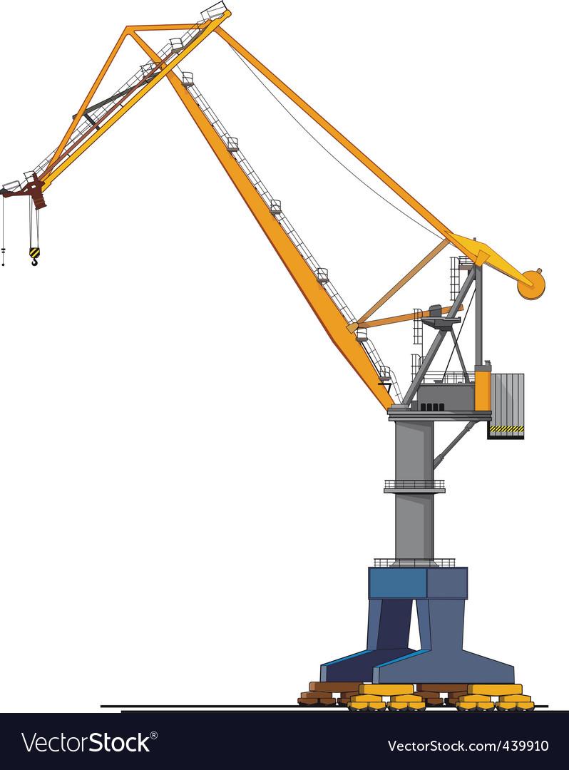 Shipyard crane vector | Price: 1 Credit (USD $1)