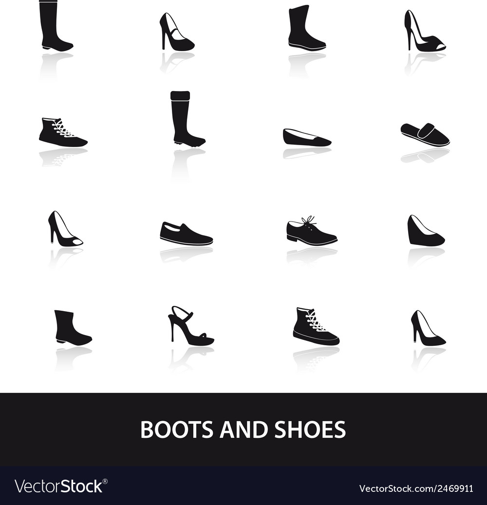 Boots and shoes eps10 vector | Price: 1 Credit (USD $1)