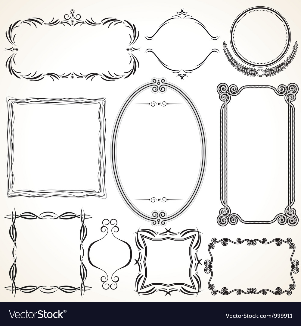 Design ornamental vintage borders and frames vector | Price: 1 Credit (USD $1)