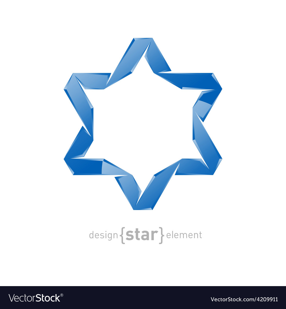 Ice star of david on white background vector | Price: 1 Credit (USD $1)