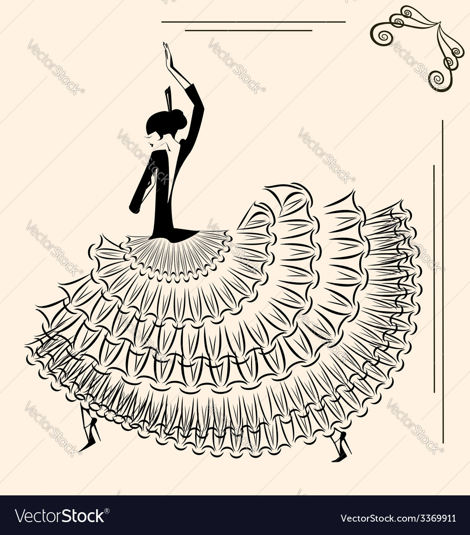 Image of dancer flamenco vector | Price: 1 Credit (USD $1)