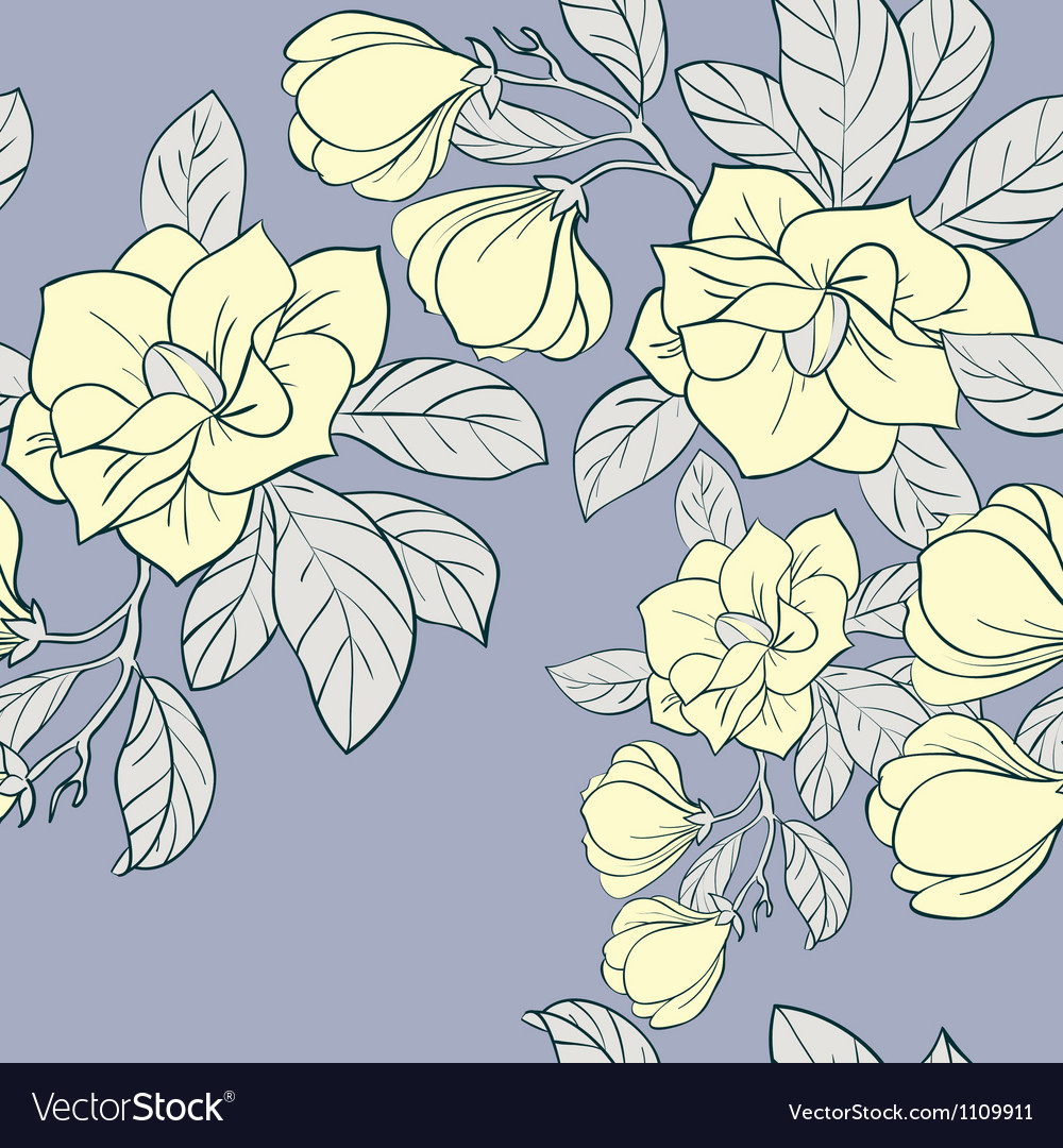 Jasmine floral seamless pattern vector | Price: 1 Credit (USD $1)