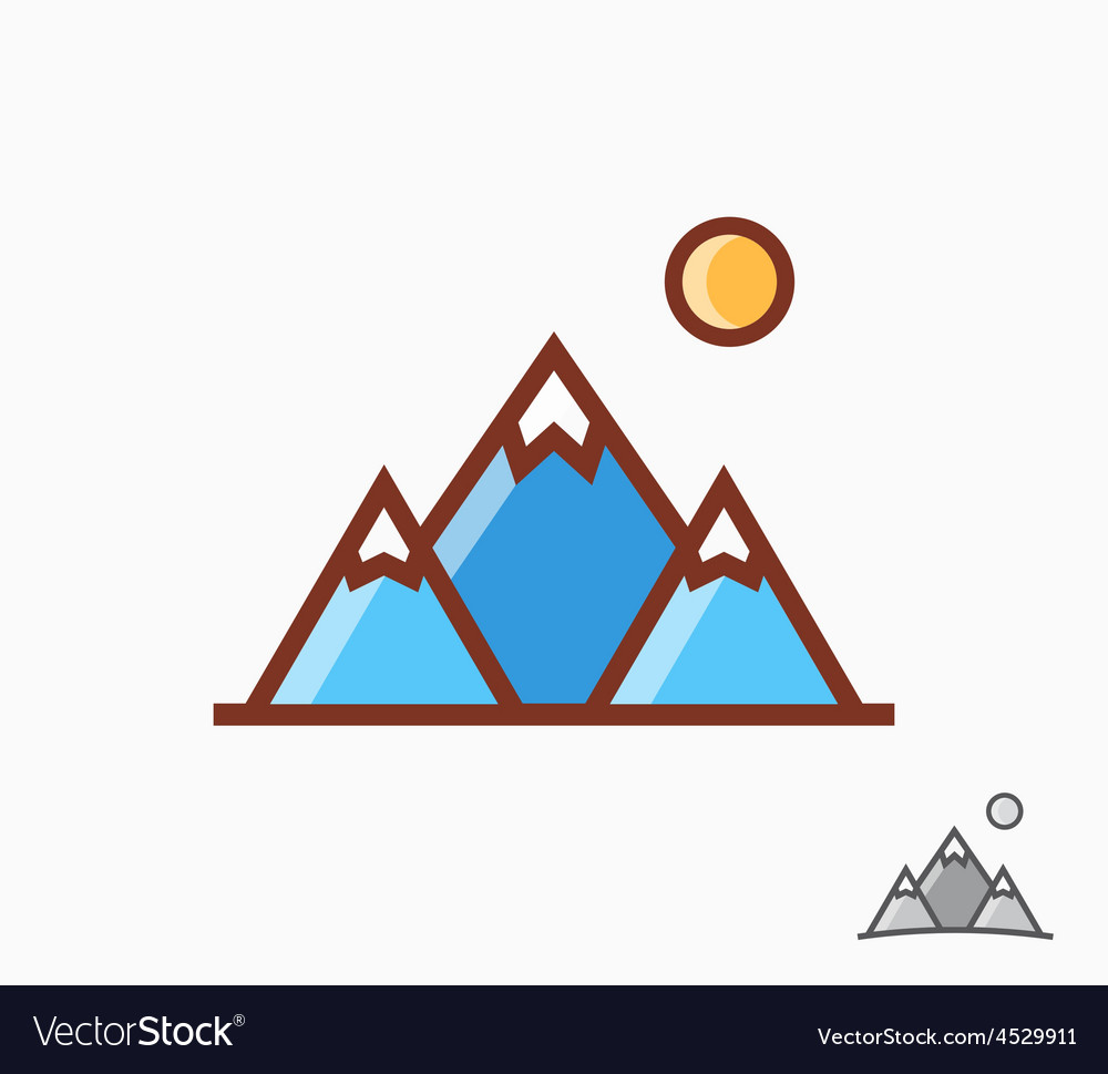 Mountains icon or logo vector | Price: 1 Credit (USD $1)