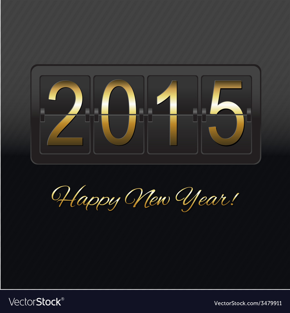 New year black counter vector | Price: 1 Credit (USD $1)