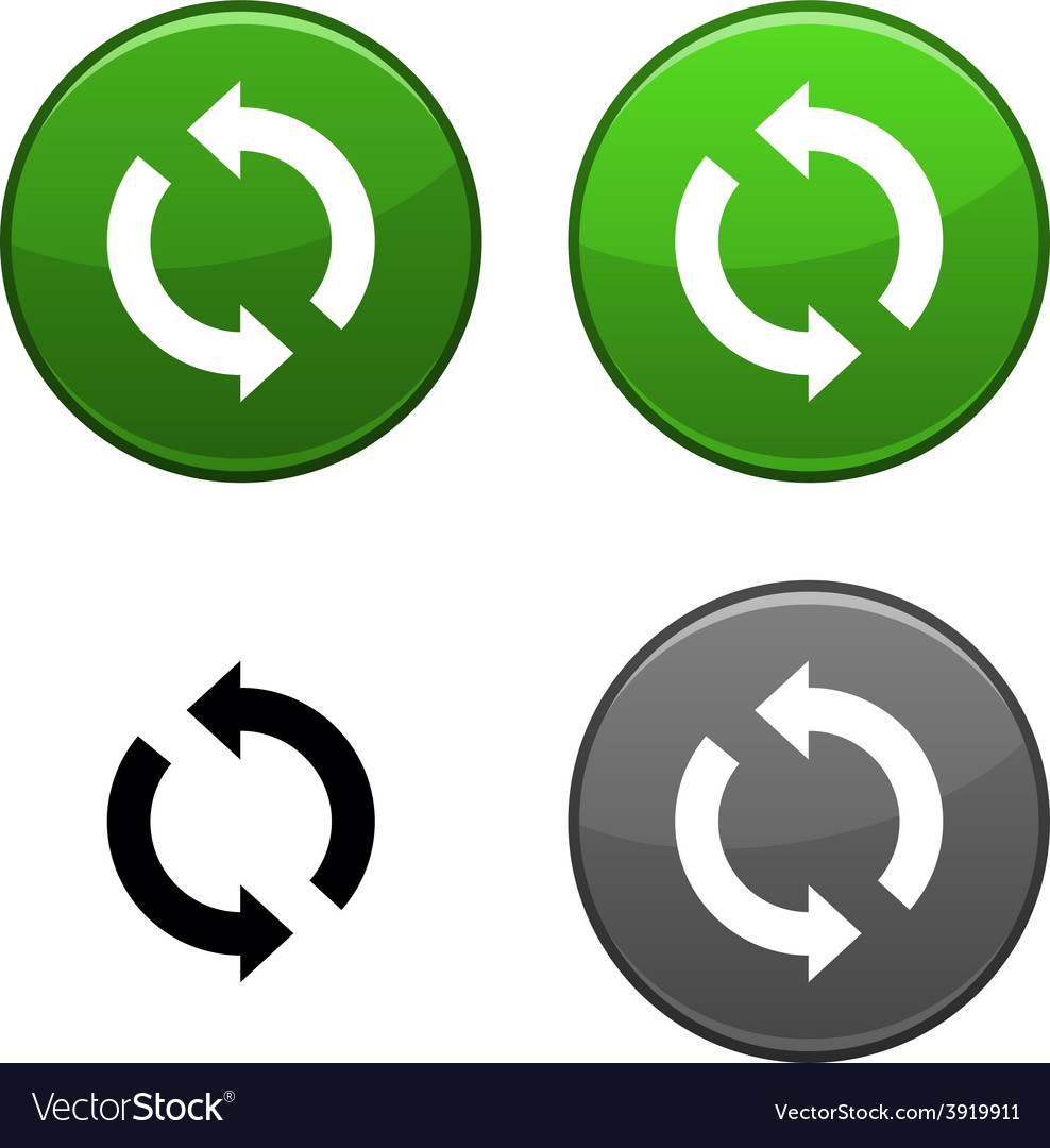 Refresh button vector | Price: 1 Credit (USD $1)