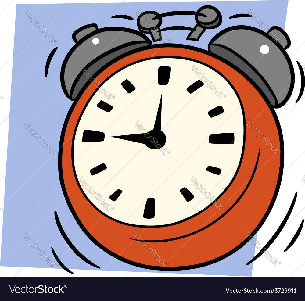 Ringing alarm clock vector   Price: 1 Credit (USD $1)