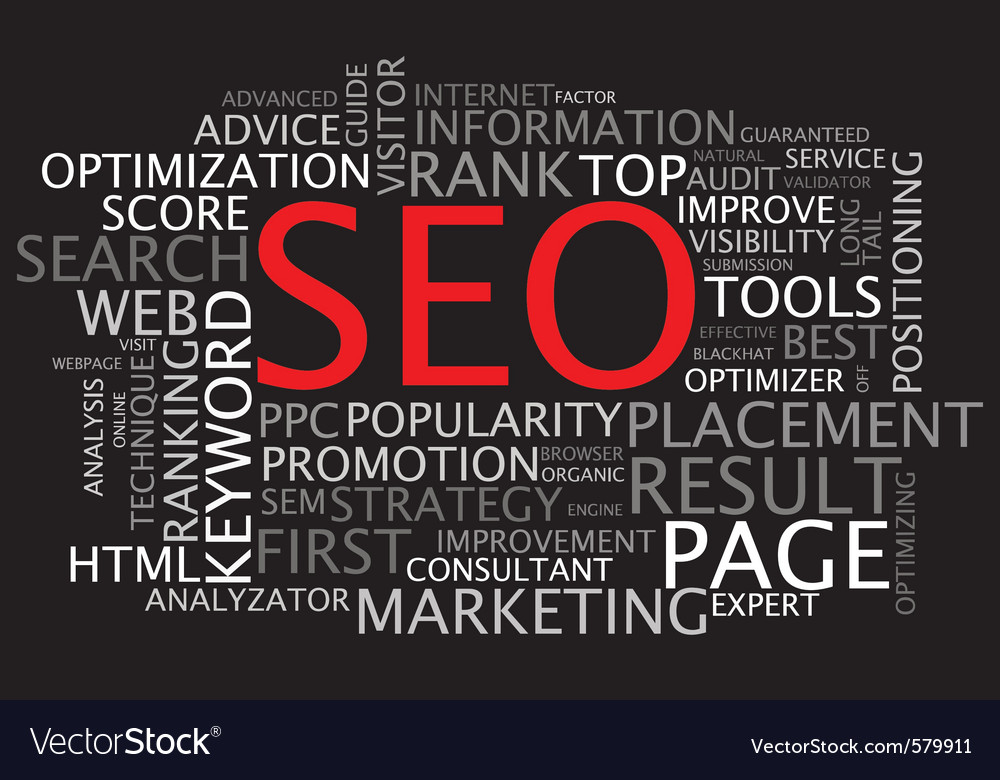 Seo poster vector | Price: 1 Credit (USD $1)