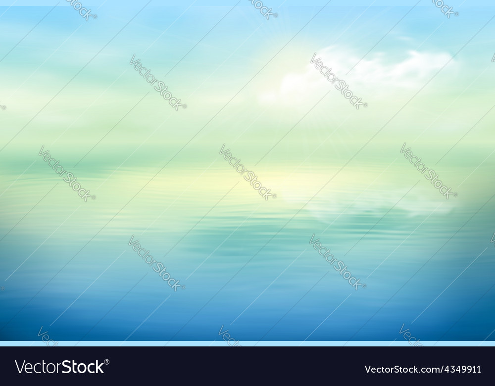 Water background calm clear vector | Price: 1 Credit (USD $1)