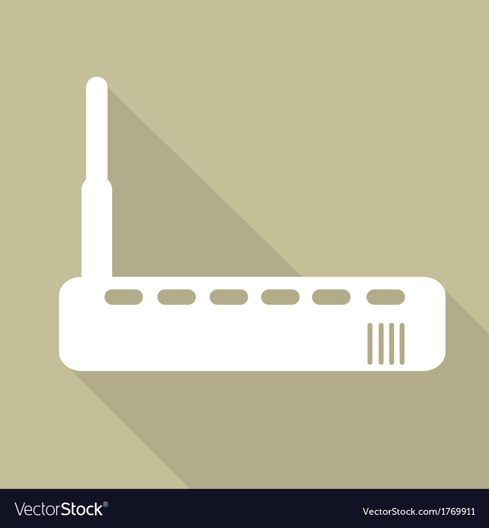 Wi fi router web icon vector | Price: 1 Credit (USD $1)