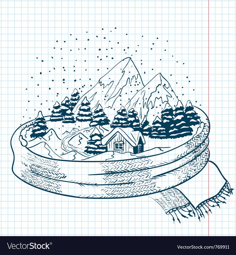 Winter doodles vector | Price: 1 Credit (USD $1)