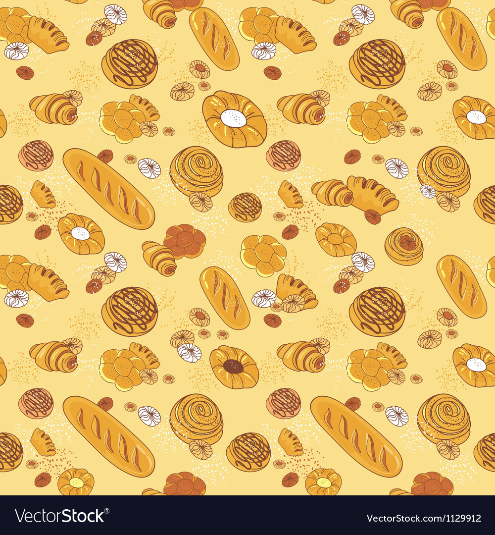 Bakery seamless pattern vector | Price: 1 Credit (USD $1)