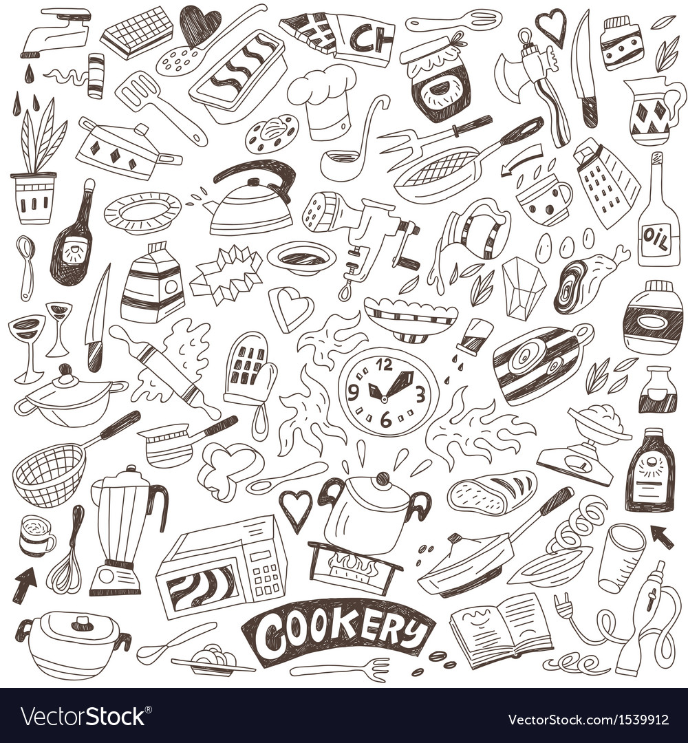 Cookery doodles vector | Price: 1 Credit (USD $1)