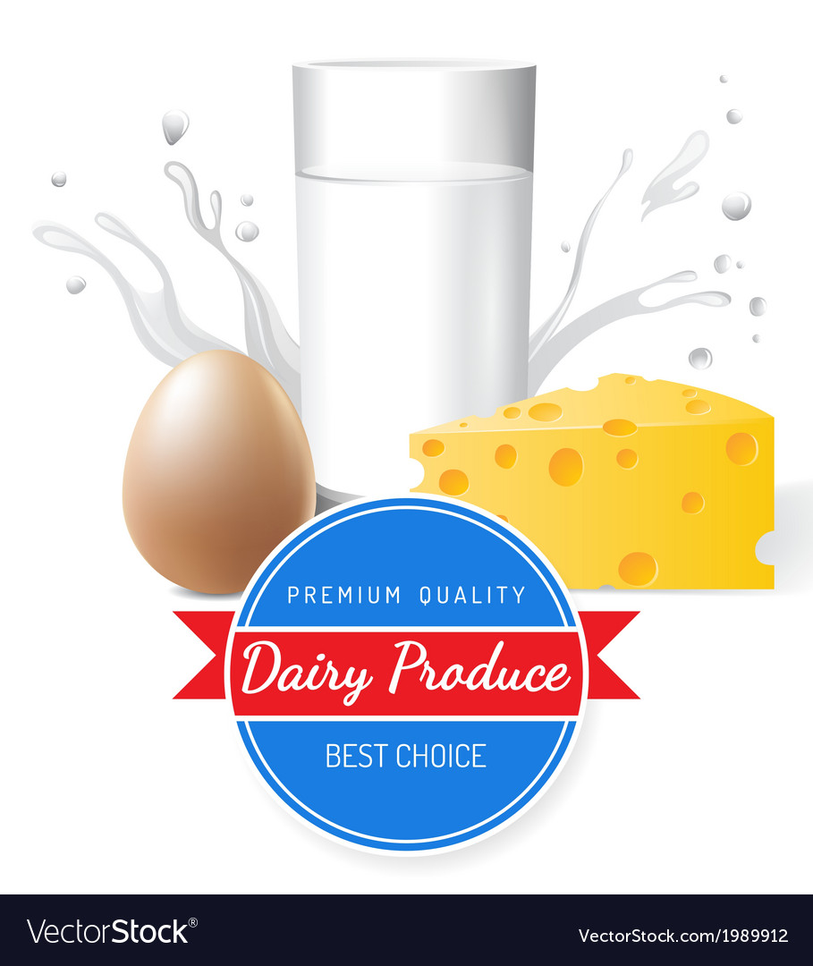 Dairy produce vector | Price: 1 Credit (USD $1)