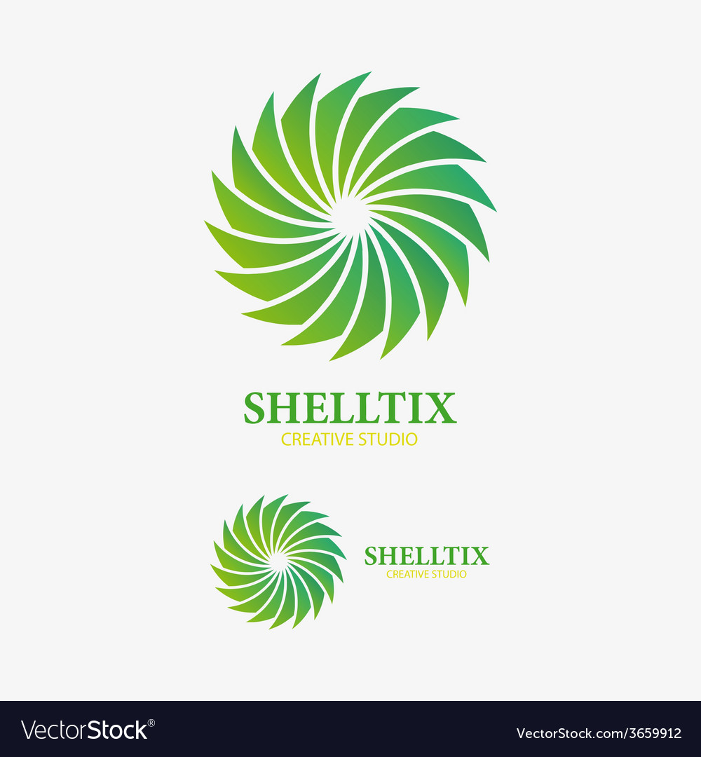 Logo design element abstract sink shell vector | Price: 1 Credit (USD $1)