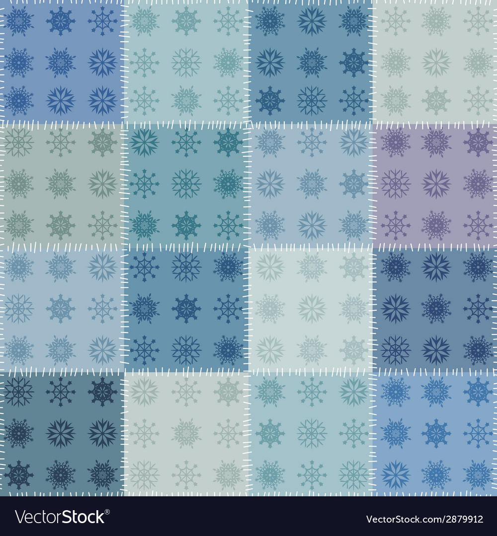 Patchwork with snowflakes vector | Price: 1 Credit (USD $1)
