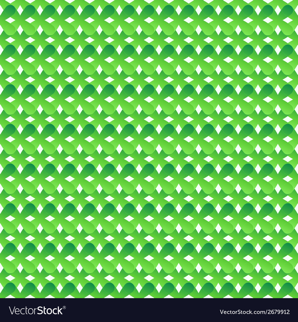 Seamless pattern of green abstract crosses vector | Price: 1 Credit (USD $1)