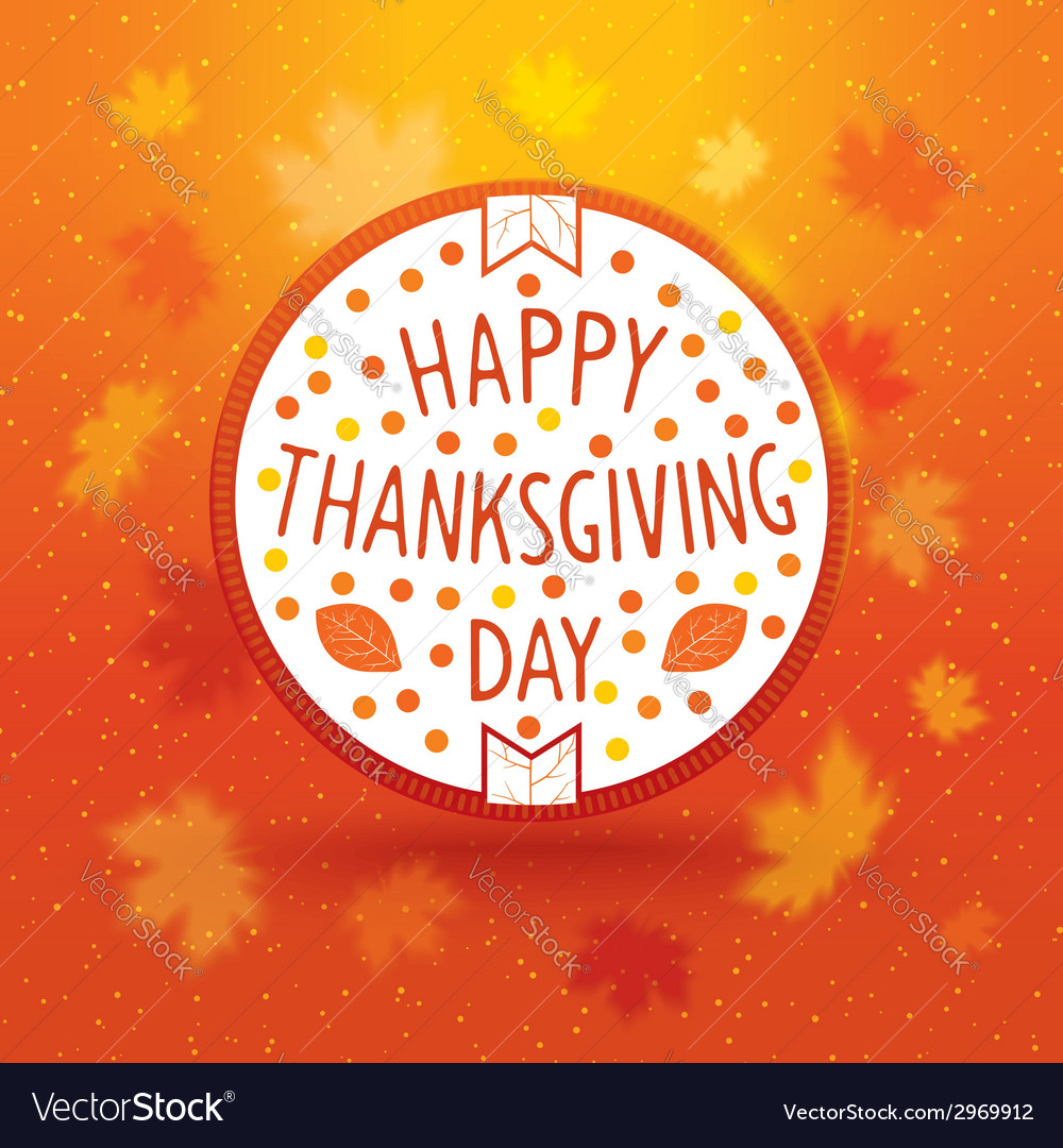 Thanksgiving day label vector | Price: 1 Credit (USD $1)