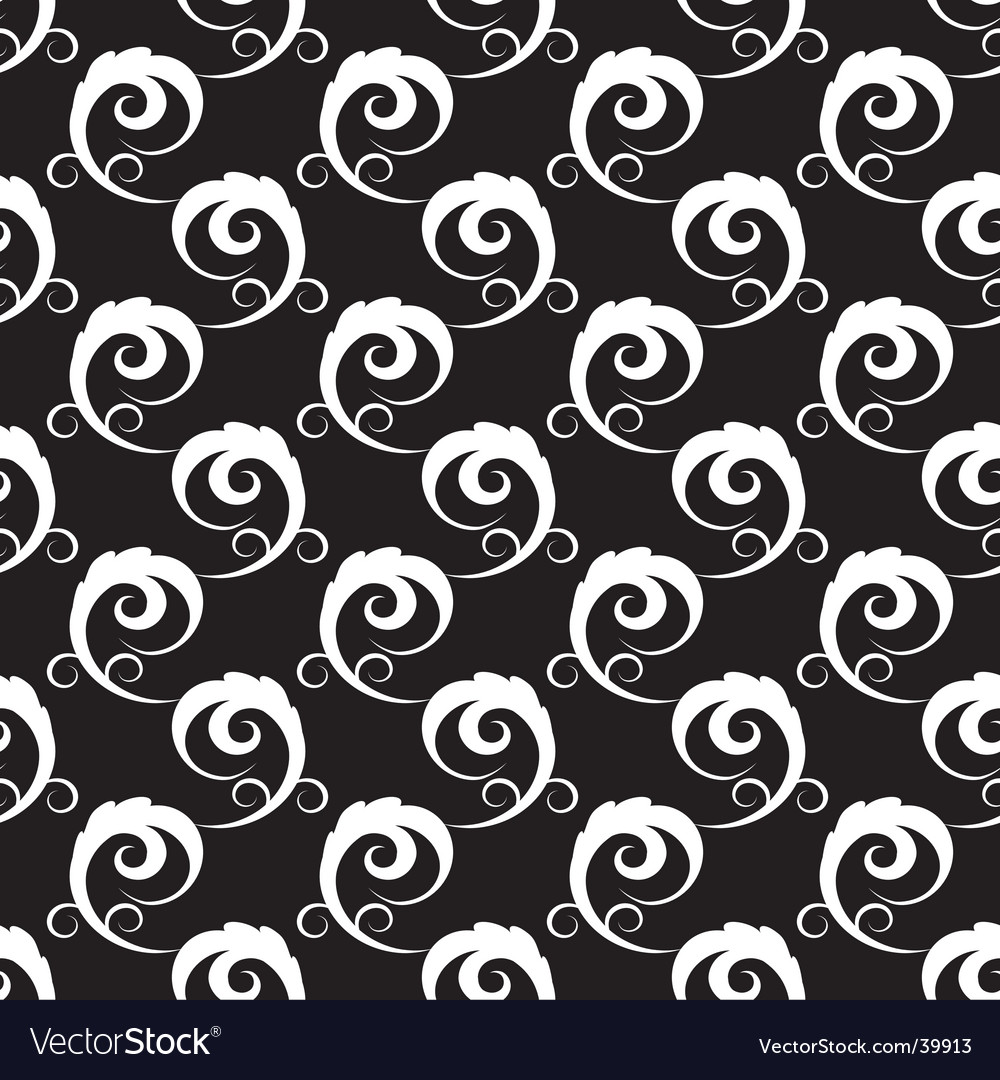 Black and white seamless background vector | Price: 1 Credit (USD $1)