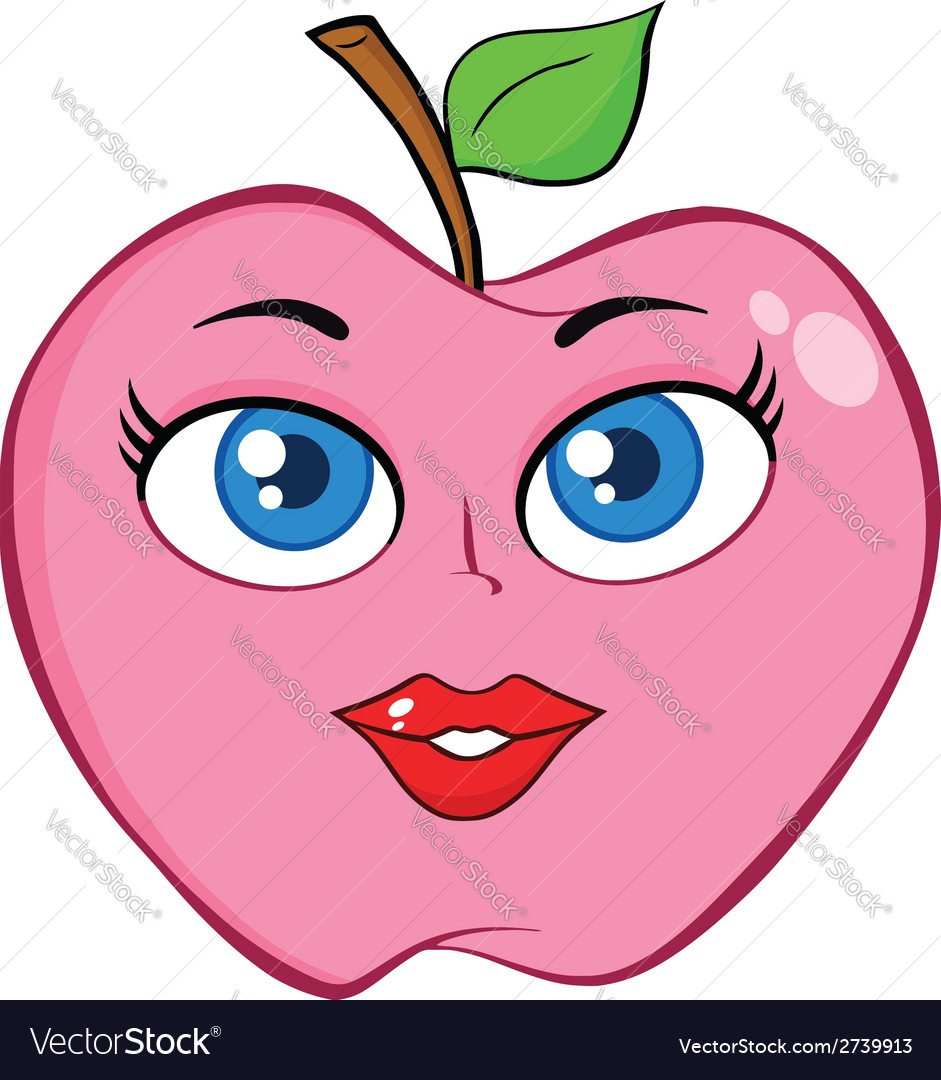 Cartoon apple design vector | Price: 1 Credit (USD $1)