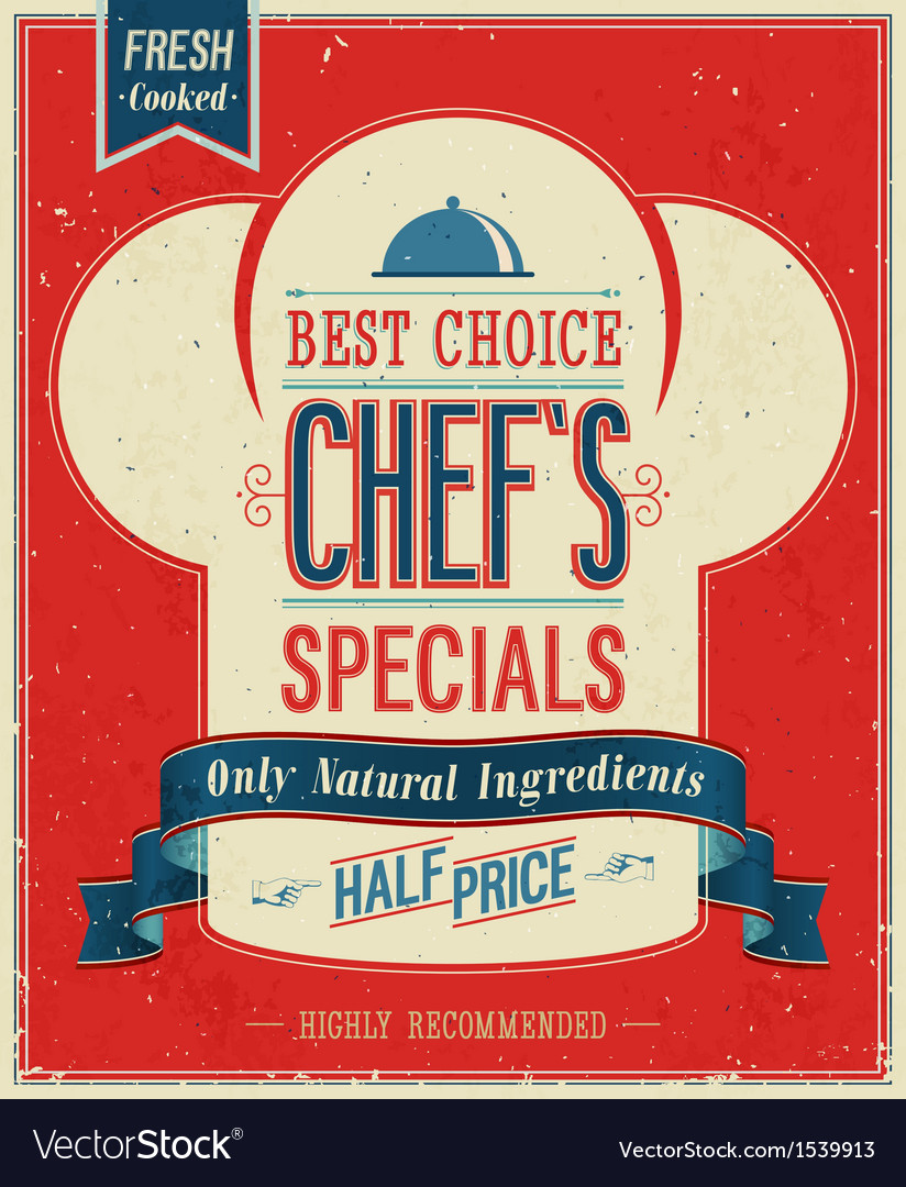 Chefs special color vector | Price: 1 Credit (USD $1)